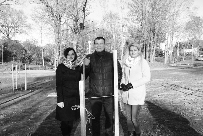 Trys Pasvalio ukrainiečiai – Svetlana ir Volodymyr Bilobrovko bei Liudmila Gertienė.