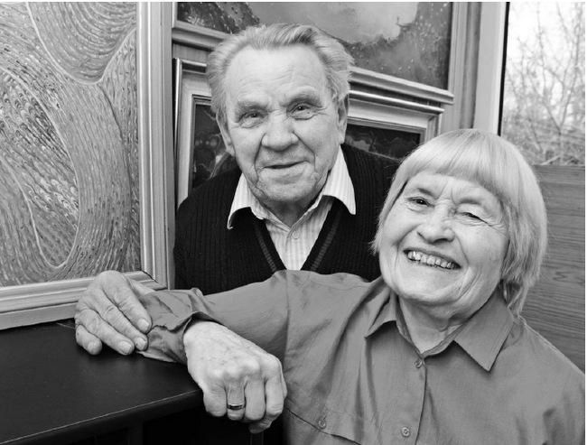 Pasvaliečiai Onutė ir Steponas Baliūnai – labai draugiška senjorų pora.